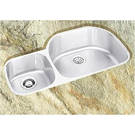 Elkay ELUH3621L Harmony Kitchen Sink Lustrous Satin Stainless Steel Undermount 0 Hole