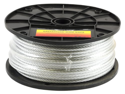 Forney 70447 Wire Rope, Galvanized Aircraft Cable, 250-Feet-by-3/16-Inch (Wire Rope Cable compare prices)