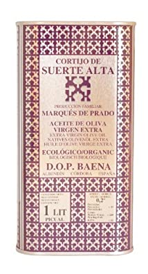 Cortijo de Suerte Alta Picual- Award Winning, NOP Organic Certified, Cold Pressed EVOO Extra Virgin Olive Oil, 2013-2014 Harvest, 33-Ounce Tin