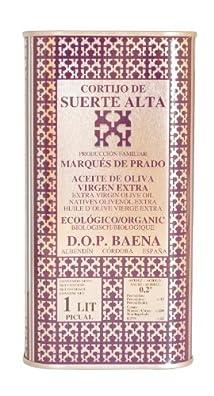 Cortijo de Suerte Alta Picual- Award Winning, NOP Organic Certified, Cold Pressed EVOO Extra Virgin Olive Oil 33-Ounce Tin