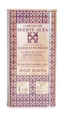 Cortijo de Suerte Alta Picual- Award Winning, NOP Organic Certified, Cold Pressed EVOO Extra Virgin Olive Oil, 2012-2013 Harvest, 33-Ounce Tin