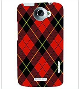 PRINTSWAG RED SQUARES PATTERN Designer Back Cover Case for HTC ONE X