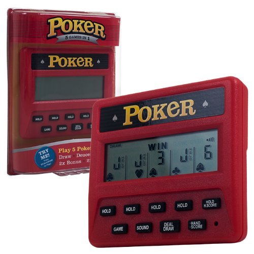 Trademark Global Electronic Handheld 5 in 1 Poker Game (Electronic Poker Game compare prices)