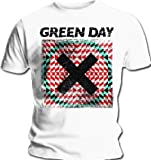 Official T Shirt GREEN DAY White XLLUSION Cross Logo All Sizes Uno Dos Tres