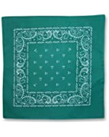 Forest Green Paisley Cotton Bandanna