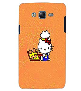 PrintDhaba Kitty D-5555 Back Case Cover for SAMSUNG GALAXY J7 (Multi-Coloured)
