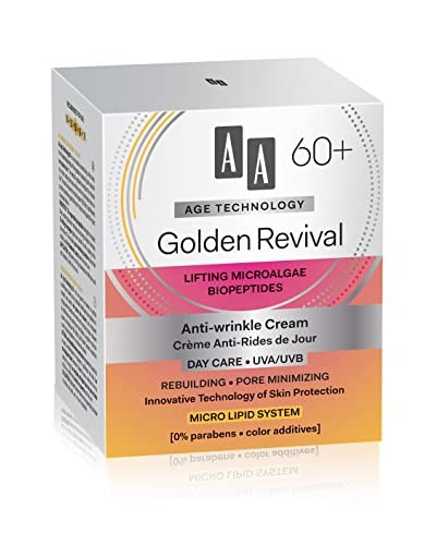 AA Cosmetics Day Cream Age Technology Golden Revival 60+ 50ml , prijs / 100 ml : 29.9 EUR