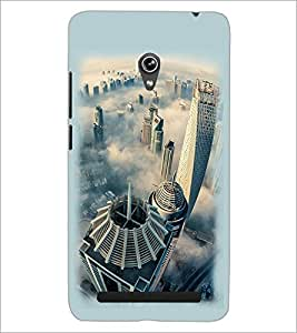 PrintDhaba Bulding View D-2110 Back Case Cover for ASUS ZENFONE 6 A601CG (Multi-Coloured)