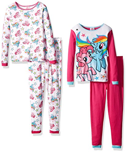 my-little-pony-girls-little-girls-4-piece-pajama-set-pink-white-6