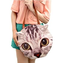 3D13 Personality Cartoon Animal Head Retro Bag Fashion Europe Big Messenger handbags (B)