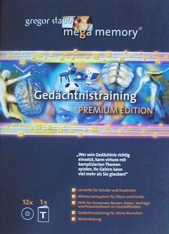 Mega Memory Gedächtnistraining Premium Edition - Textband plus 12 CDs