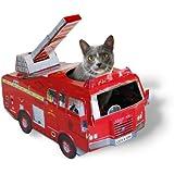 SUCK UK Katzenspielhaus - Feuerwehrwagen