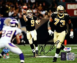Drew Brees Autographed Hand Signed 8x10 Photo New Orleans Saints PSA DNA ID #76040 by Hall of Fame Memorabilia