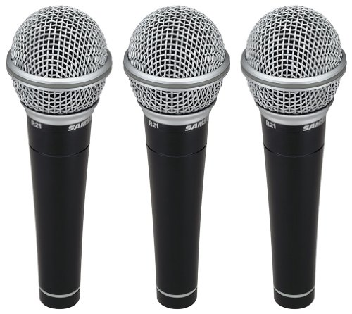 Samson R21 Vocal Recording Dynamic Microphone - Set Of 3