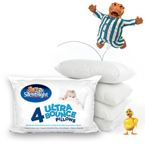 Silentnight Ultrabounce Pillow 4 Pack - With 33% More For Extra Bounce UB1