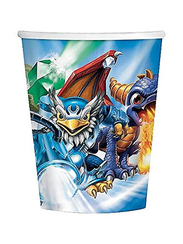 Skylanders (8) Paper Cups Hot/Cold 9 ounces Party Supply