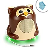 GOgroove Multimedia Handheld Gaming Console Speaker Groove Pal Junior Owl with Powerful Bass Resonance - Works With Nintendo 3DS XL , PlayStation Vita , Sony PSP , Razer Switchblade and More Handheld Gaming Consoles