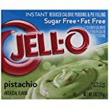 Jell-O Sugar-Free Instant Pudding & Pie Filling, Pistachio, 1-Ounce Boxes (Pack of 24) ~ Jell-O