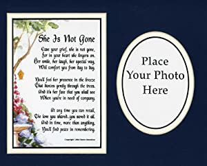 """Amazon.com - """"She Is Not Gone"""" 8x10 Poem, Double-matted Photo in Navy ..."""