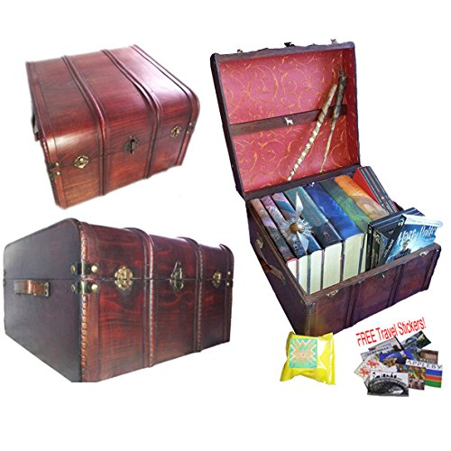 Hogwarts Wooden Steamer Trunk - Patronus Edition