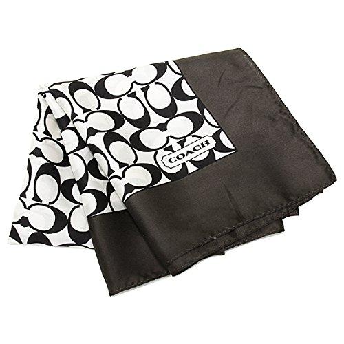 (コーチ) COACH コーチ スカーフ アウトレット COACH F84270 BW/BK シグネチャー スカーフ ブラックホワイト/ブラック[並行輸入品]