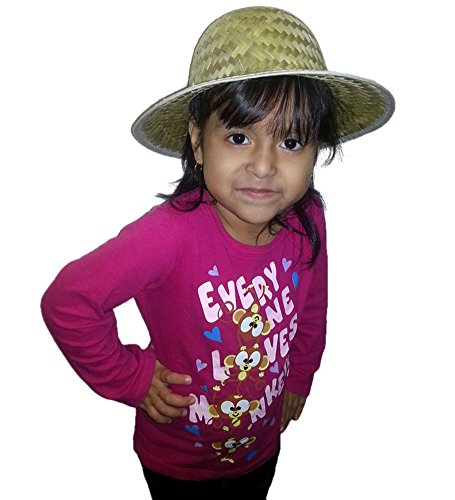 Child Size Woven Safari Pith Hat - Child's Woven Pith Hat In Safari Style For Sunny Summer Days Costume Accessory