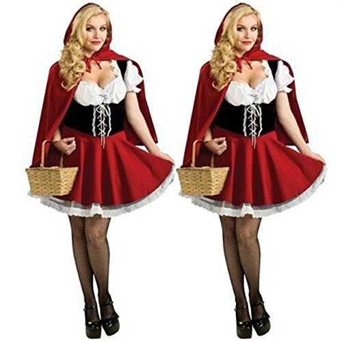 YUSONG Women's Sexy Red Riding Hood Costume Maid Princess Witch outfit