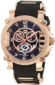 Brillier Men's 02.3.3.1.11.05 Grand Master Tourer Rose-Tone Black Rubber Watch from Brillier