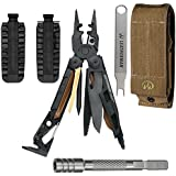 Leatherman MUT Military EOD Stainless Steel Multi-Tool 850031, With Molle Brown Sheath + 42 Piece Bit Kit + Bit Extender + Mut Multi-Tool Wrench