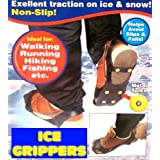 Universal Ice Traction Slip-on Stretch Fit crampons size UK 3 - 4by Ice Grippers