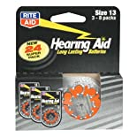 Rite Aid Home Batteries, Hearing Aid, Size 13, 3-8 Packs