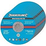 Silverline 447131 10 disques plats à tronçonner le métal 115 x 3 x 22,2 mm