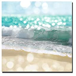 Ocean Reflections II by Kate Carrigan Custom Gallery-Wrapped Canvas Giclee Art (Ready to Hang)