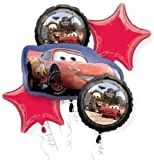Disney Cars Mc Queen Balloon Bouquet Birthday Party Favor Supplies 5ct Foil Balloon Bouquet