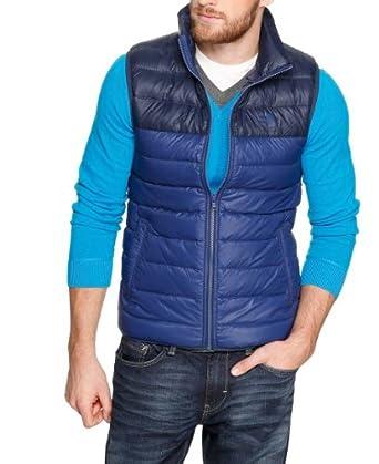 S.Oliver - Veste Sans Manche - Sans Manche Homme - Bleu - Blau (Surf Blue) - FR : Large (Taille Fabricant : L) (Brand size : L)