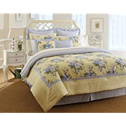 Laura Ashley, Caroline Collection, Bed in a Bag, Queen