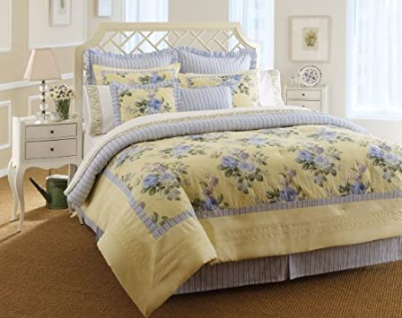 Fresh Laura Ashley Caroline Collection Bed in a Bag Queen
