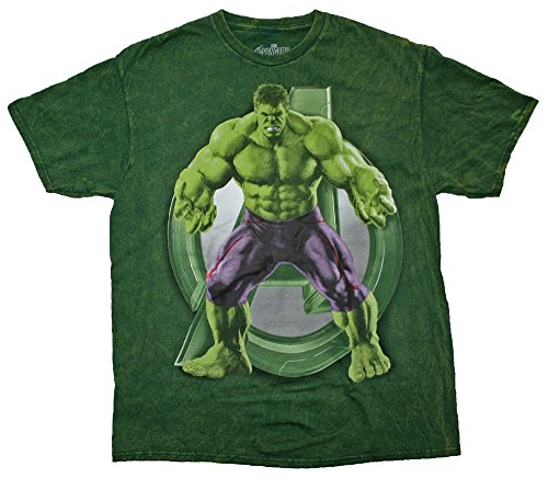 Marvel Comics Avengers Age of Ultron Hulk Licensed Graphic T-Shirt