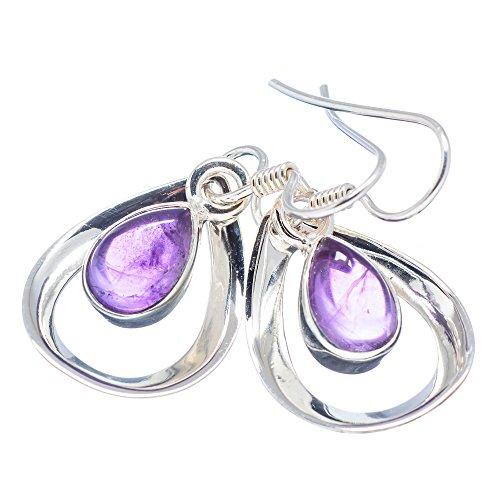 Ana Silver Co Amethyst 925 Sterling Silver Earrings 1 1/2