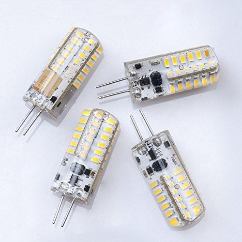 4X G4 Base 48 Led Light Bulb Lamp 3 Watt Ac Dc 12V/10V-20V White Light