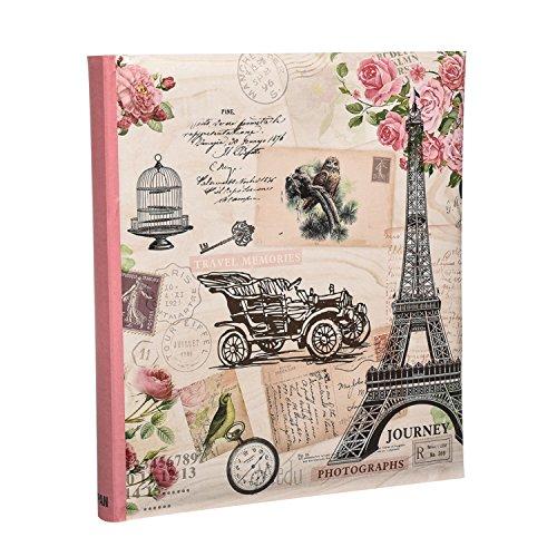 Contiene 120 foto 5x7 ' ' / 13 x 18 cm Foto - Rosa copertura di viaggio vintage