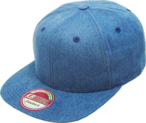 KAW-3467 MDM KBETHOS Plain Adjustable Wool Blend Snapback Cap – Classic Solid