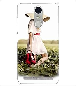 PrintDhaba Hat Girl D-3360 Back Case Cover for LENOVO K5 NOTE (Multi-Coloured)