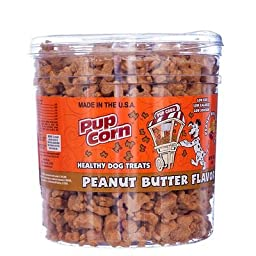 Pup Corn Dog Treats Barrel, Peanut Butter Flavor, 30oz