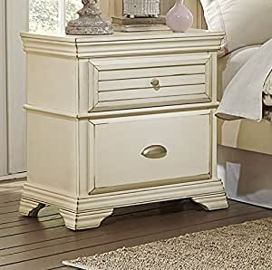 antique white cottage panel bedroom furniture