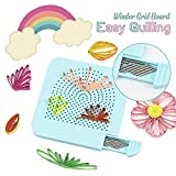 Easy Quilling Winder Grid Board - Paper Quilling Tool - Quilling Knitting Board Have Sticks Storage - Rolling Curling Quilling Needle Pen Kits for Art Craft DIY Paper Cardmaking Project (Blue) (Color: Blue, Tamaño: 105 x 105 x 8 mm)