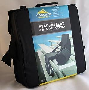 Cascade Mountain Tech Stadium Seat & Blanket Combo by Cascade