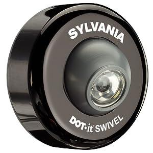 led battery operated swivel puck light black swivel. Black Bedroom Furniture Sets. Home Design Ideas