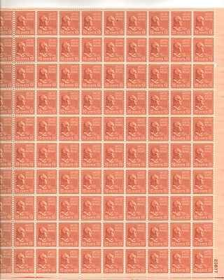 John Tyler Sheet of 100 x 10 Cent US Postage Stamps NEW Scot 815