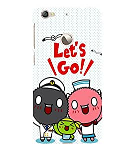 Fuson Premium Back Case Cover Lets go With white Background Degined For Letv Le 1S
